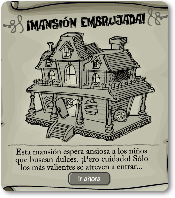 mansion embrujada aviso